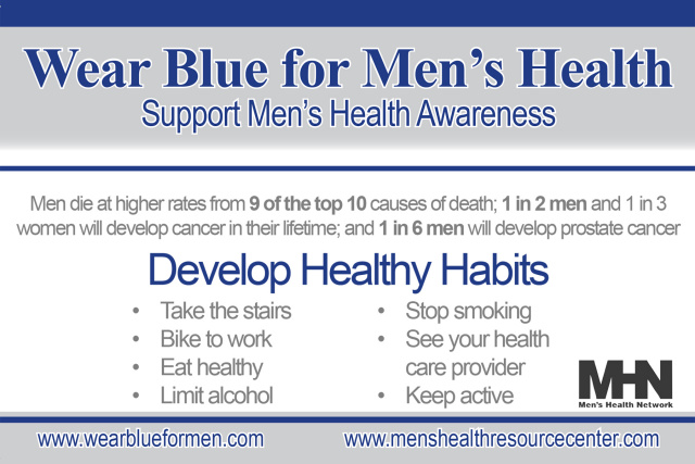 Wear Blue for Men's Health Pin (Orders of 500+)