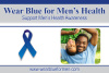 Wear Blue for Men's Health Pin - African American (Orders of 500+)