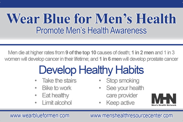 Wear Blue for Men's Health Pin - African American (Orders of 10-499)