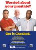 "Worried About Your Prostate? Get It Checked! poster (12"" x 18"")"